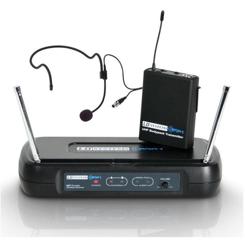 Set microfon cu receptor ECO2 BPH Wireless Negru