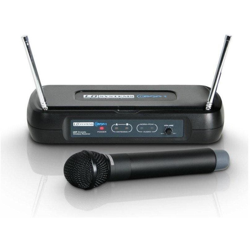 Set microfon de mana ECO2 HHD Wireless Negru