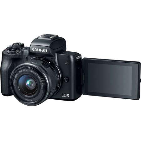 Aparat foto Mirrorless Canon EOS M50 24.1 Mpx Kit Black 15-45 IS STM