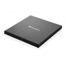 Verbatim Slimline CD/DVD Writer USB 3.2 Gen1/USB-C Negru