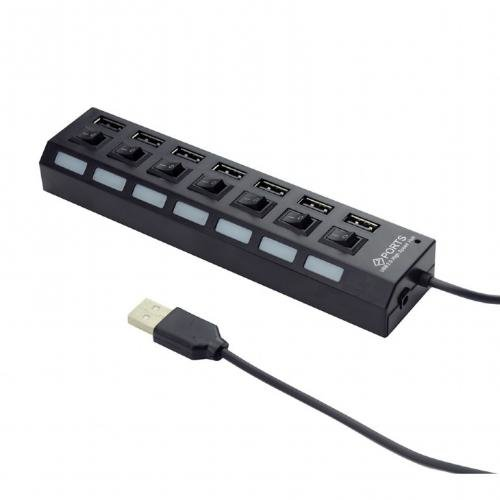 Hub USB UHB-U2P7-03 7-port USB 2.0 Negru