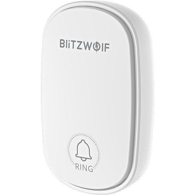 Sonerie usa cu energie cinetica BW-DB1 WiFi RF 433MHz Alb