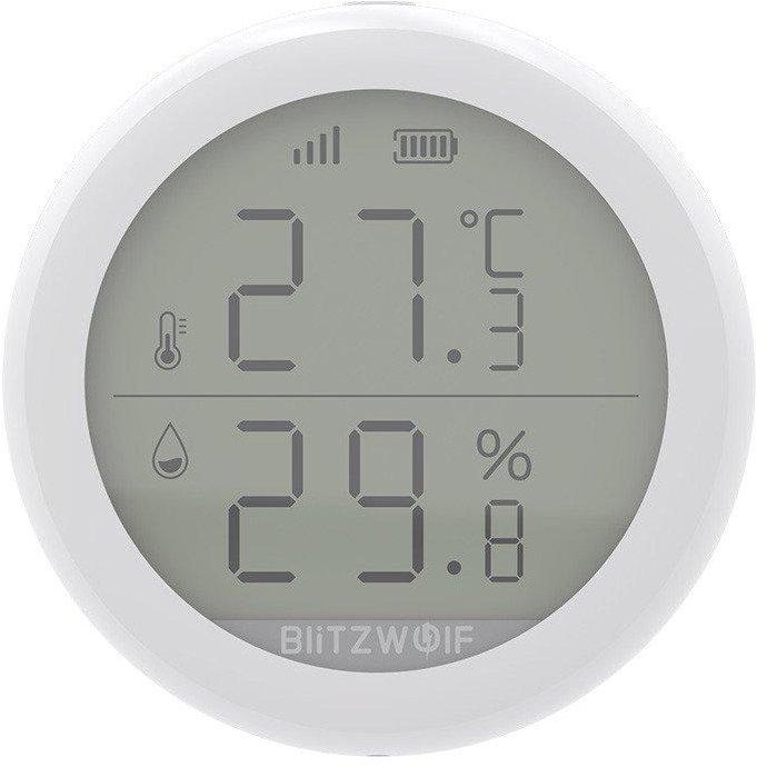 Senzor de temperatura si umiditate SMART BW-IS4 ZigBee Control WiFi Alb