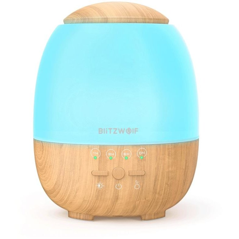 Umidificator aer cu ultrasunete si lumina ambientala Smart BW-FUN3 400 ml Functie de aromatizor Control prin aplicatie Wi-Fi RGB