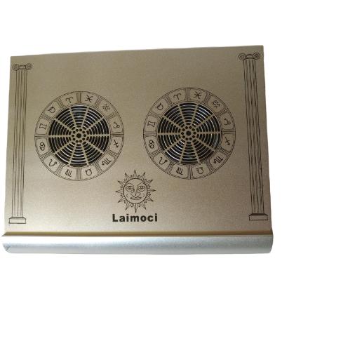 Platforma Racire Laptop 9-17inch Porturi USB 2 Ventilatoare Zodiac Argintiu