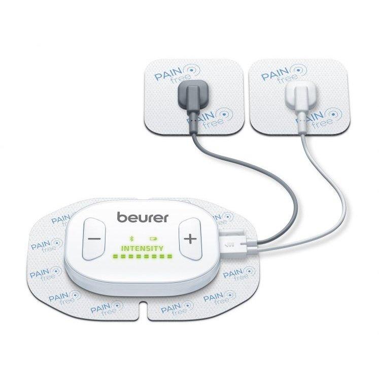 Dispozitiv digital EM70 wireless cu telecomanda 4 electrozi 1 canal Alb
