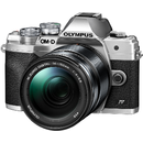 Aparat foto Mirrorless Olympus E-M10 Mark IV 14150 Silver + Obiectiv M.Zuiko Digital 14-150mm Black