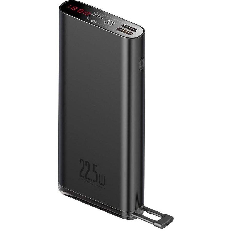 Baterie externa portabila Starlight 20000 mAh Putere 22.5W Power Delivery / Quick Charge 3.0 Black