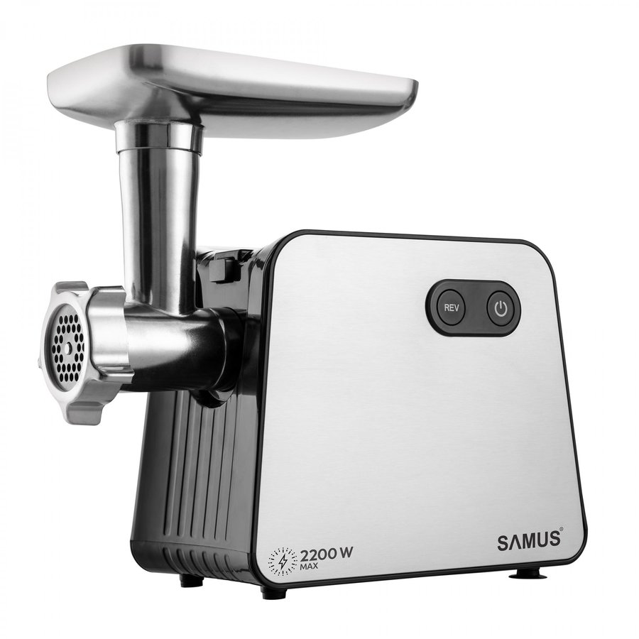 Masina de tocat SMT-2200X 2200W 1.8 kg/h Negru / Inox