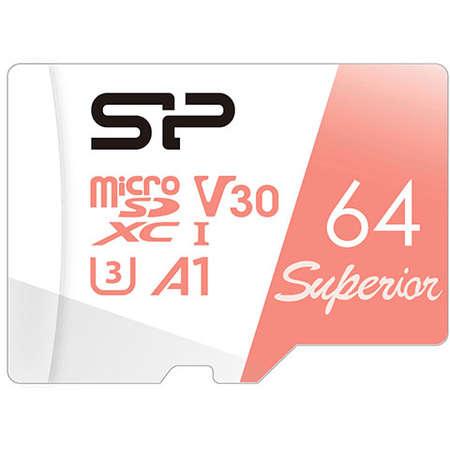 Card Silicon Power Superior Micro SDXC 64GB UHS-I A3 V30