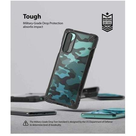 Husa Protectie Spate Ringke Fusion X Negru Camuflaj pentru OnePlus Nord