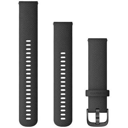 Curea smartwatch Garmin Quick Release 20 mm Silicon Black / Slate