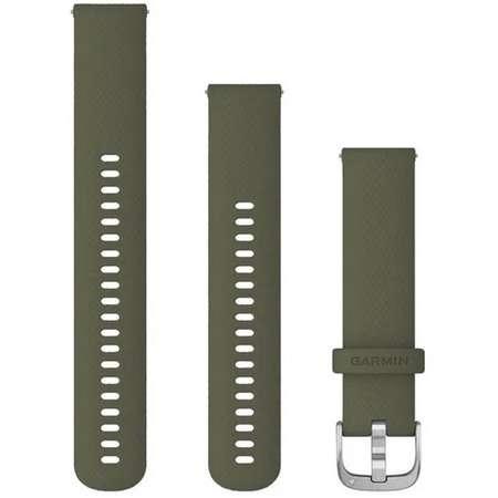 Accesoriu smartwatch Garmin Quick Release 20 mm Silicon Silver / Moss Green