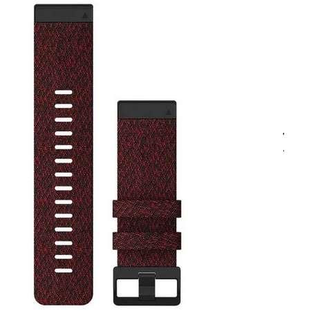Curea smartwatch Garmin QuickFit 26mm Nylon Heathered Red