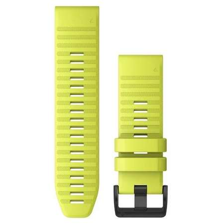 Curea smartwatch QuickFit 26mm Silicon Amp Yellow pentru Garmin Fenix 6X