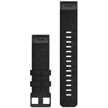 Curea smartwatch QuickFit 22mm Nylon Heathered Black pentru Garmin Fenix 6