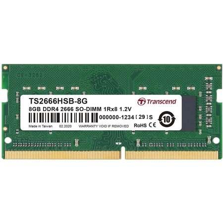 Memorie laptop Transcend 8GB (1x8GB) DDR4 2666MHz CL19 1.2V 1Rx8 1Gx8