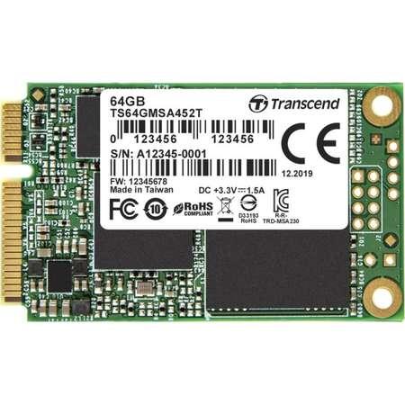 SSD Transcend MSA452T 64GB SATA-III mSATA