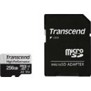 Card de memorie Transcend 330S 256GB MicroSDXC Clasa 10 UHS-I U3 + Adaptor SD