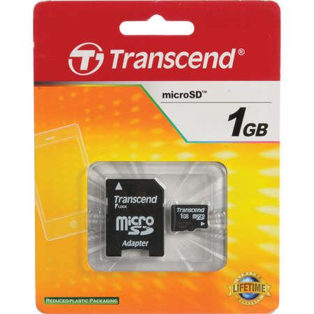 Card de memorie Transcend 1GB MicroSD + Adaptor SD