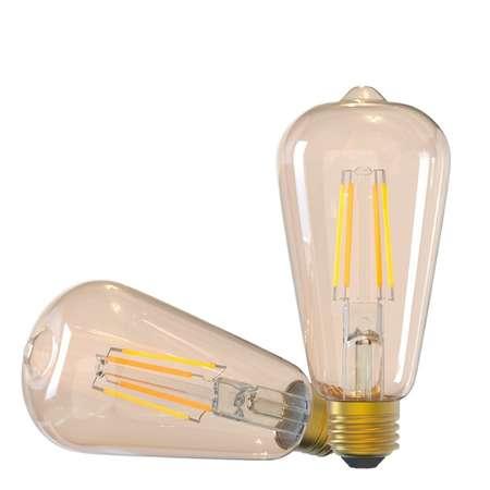 Bec WiFi Filament Tellur E27 6W fumuriu lumina alba calda reglabil