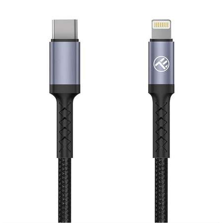 Cablu de date Tellur Type-C la Lightning 2A PD18W 1m nailon Negru