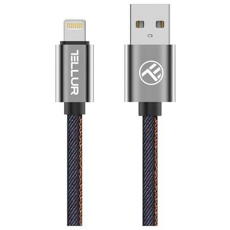 Cablu de date Tellur Denim MFi Lightning 1m Albastru