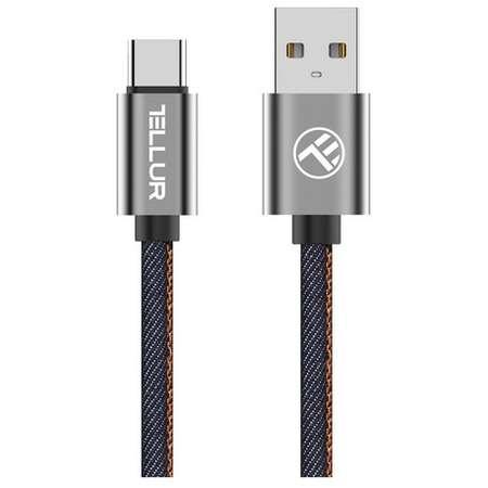 Cablu de date Tellur Denim Type-C 1m Albastru