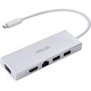 Hub USB Asus 90XB067N-BDS000 USB-C White