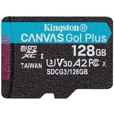 Card Kingston Resigilat Canvas Go Plus microSDXC 128GB Clasa 10 U3 UHS-I 170 Mbs
