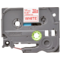 Banda laminata TZe-232 12mm 8m pentru imprimante Brother P-touch TZ / TZe Rosu pe Alb