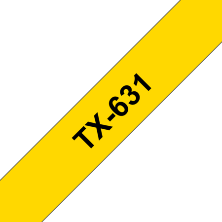 Banda laminata TX-631 12mm 15m pentru imprimante Brother P-touch Negru pe Galben