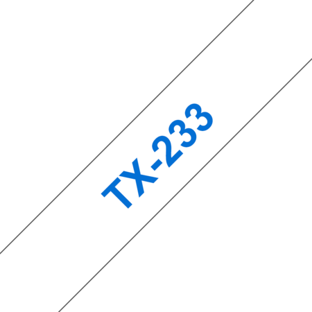 Banda laminata TX-233 12mm 15m pentru imprimante Brother P-touch Albastru pe Alb
