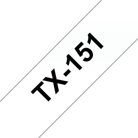 Banda laminata TX-151 24mm 15m pentru imprimante Brother P-touch Negru pe Transparent