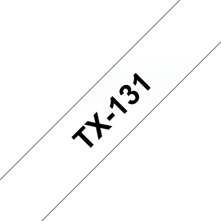 Banda laminata TX-131 12mm 15m pentru imprimante Brother P-touch Negru pe Transparent