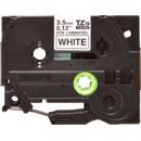 Banda nelaminata TZe-N201 3.5mm 8m pentru imprimante Brother P-touch Negru pe Alb