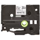 Banda laminata flexi id TZe-FX251 24mm 8m pentru imprimante Brother P-touch TZ / TZe Negru pe Alb