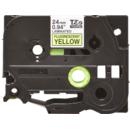 Banda laminata TZe-C51 24mm 5m pentru imprimante Brother P-touch TZ / TZe Negru pe Galben fluorescent
