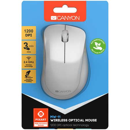 Mouse Wireless Canyon CNE-CMSW11PW Pearl White