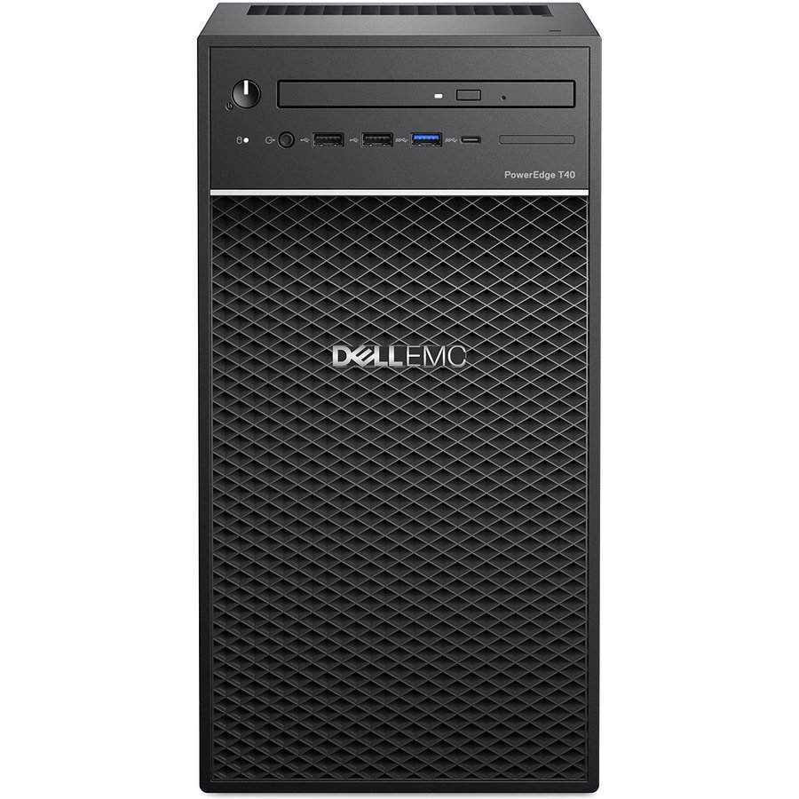 Server PowerEdge T40 Intel Xeon E-2224G 8GB RAM DDR4 1TB HDD No OS Black