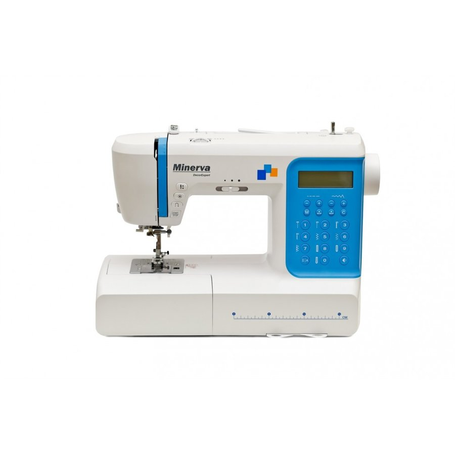 Masina de cusut digitala Decor Expert 197 Programe 800 Imp/Min 70W Alb/Albastru