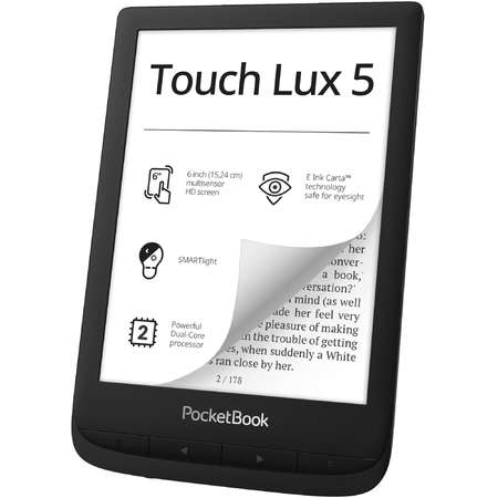eBook reader PocketBook Touch Lux 5 6 inch Wi-Fi Black