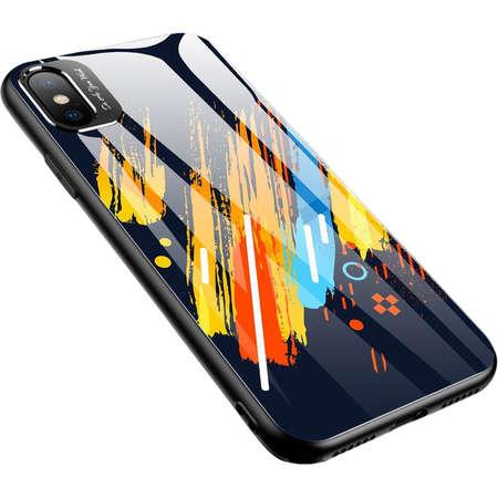 Husa Protectie Spate Star Color Glass Pattern 5 Multicolor pentru Apple iPhone X / iPhone Xs