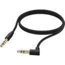 Cablu Hama 173872 Essential Line 3.5 mm jack Male 1m Negru