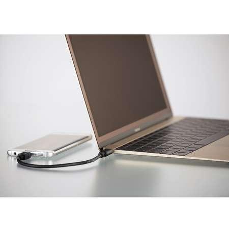 Cablu de date Hama 135713 USB-C - microUSB 2.0 0.75m Negru