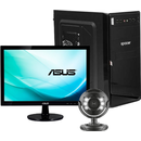 format din Sistem Desktop PBA Home Start Intel Celeron Dual Core 2.41GHz 8GB RAM HDD 500GB DVD-RW + Monitor ASUS 18.5 inch + Camera Web + Tastatura + Mouse + Boxe