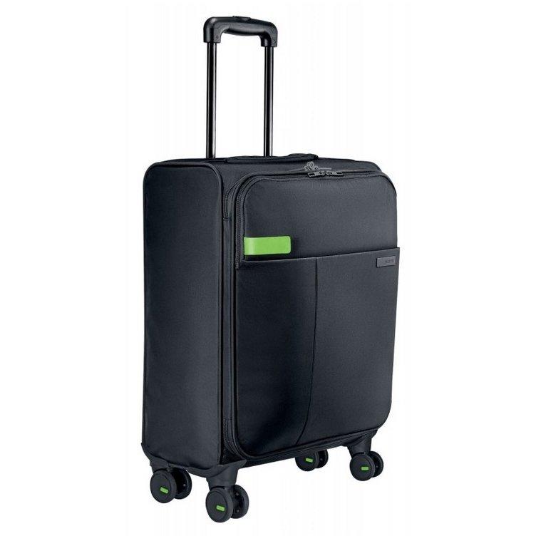 Troller Smart Traveller Complete cu 4 rotile Negru 15.6 inch