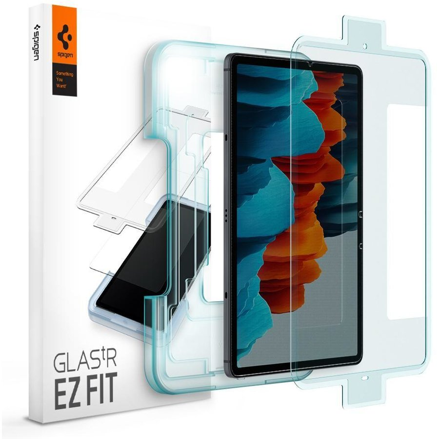 Folie sticla cu sistem de montare Case friendly GLAS.tR EZ FIT Samsung Galaxy Tab S7 11 inch