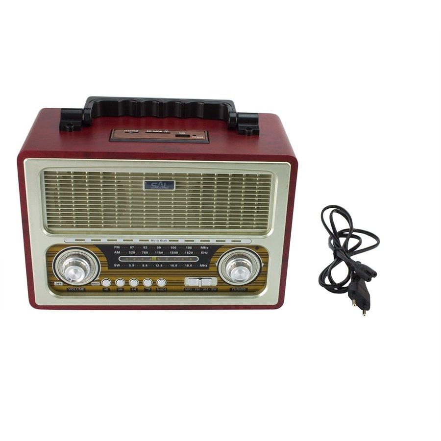 Radio portabil RRT3B Retro Bluetooth 6W Maro