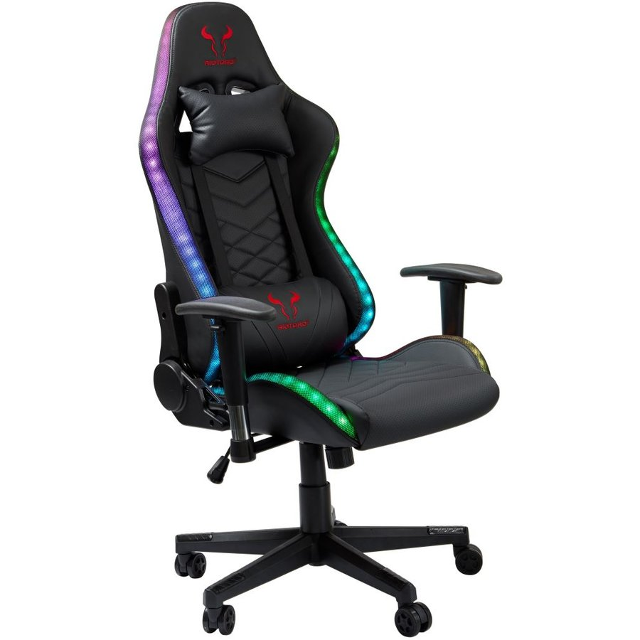 Scaun gaming Spitfire X1S Plus ilumanare RGB cu difuzoare Black